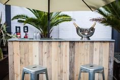 Rustic wooden bar with zinc top #bespokefurniture #barhire #eventprofs #bespoke #eventhire #weddinghire #rusticwedding