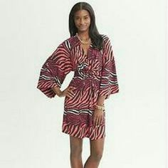 ISSA LONDON Banana Republic 6 M brown orange white animal prnt stretch dress NWT #Issa