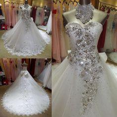 Bling crystal wedding dress at Bling Brides Bouquet Online Bridal Shop
