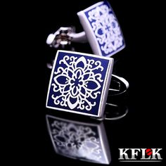 KFLK shirt cufflinks for mens Brand cuff buttons blue art cuff link top grade gemelos High Quality abotoaduras Designer Jewelry ** This is an AliExpress affiliate pin. Locate the offer on AliExpress website simply by clicking the image Jewelry Accessories, Jewelry Design, Designer Jewelry, Phoenix Jewelry, Jewelry 2014, Blue Art, Wedding Groom, Luxury Wedding, Cufflinks