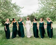 Bridal party wearing hunter green or emerald green bridesmaid dresses from Birdy Grey wedding emerald green Affordable bridesmaid dresses under 100 Emerald Green Bridesmaid Dresses, Bridesmaid Dresses Under 100, Grey Bridesmaids, Affordable Bridesmaid Dresses, Photos, Hunter Green, Yoga Jewelry, Hippie Jewelry, Tribal Jewelry