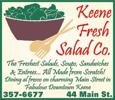 Keene Fresh Salad Co. has yummy, healthy food and accommodates almost any special diet. | Keene, NH (44 Main St)