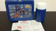Vintage Police Academy Plastic Lunchbox with Matching Thermos - NEW #Thermos