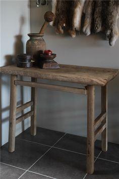 Wandtafel Side Table Oud Hout. Nog 1 Uit Voorraad Leverbaar Wandtafel Side Table Oud Hout Oud Hout
