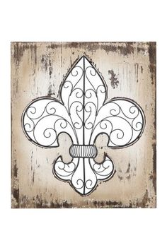 You see what I mean!? These are so great! Wood Scroll Fleur-de-Lys Wall Decor