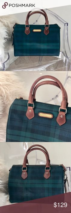 4b3e455fc766 RARE Vintage Polo Ralph Lauren Speedy Handbag Rare vintage Polo Ralph  Lauren Plaid Tartan Speedy Doctor