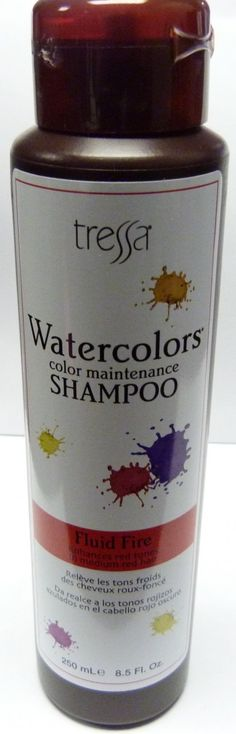 Tressa Watercolors is a sulfate-free color-depositing shampoo.Tone and maintain color treated hair, or enhance non-treated hair's natural hues. Watercolors is the ultimate color enhancing, conditioning shampoo.  Fluid Fire: Use on Medium – Dark Red. Creates bright, passionate, fiery red-range tones. www.salonnirvanahair.com