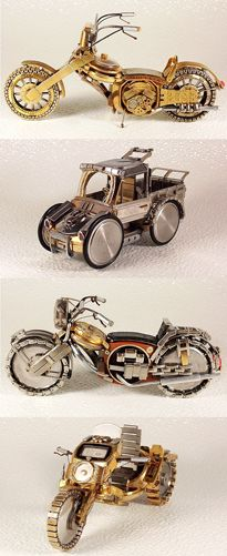 Watches Transformed Into Intricate Motorcycles ~ Dmitriy Khristenko