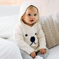 Autumn Knitted Sweaters For Baby Boys Girls Cardigan Cartoon Pattern Newborn Baby Bunny Jumpers Winter Outerwear Infant Knitwear Knit Baby Sweaters, Boys Sweaters, Baby Boy Sweater, Grace Loves Lace, Baby Boy Outfits, Outfits For Teens, Design Tradicional, Storing Baby Clothes, Baby Girl Newborn