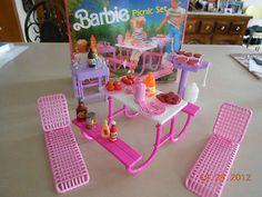 Vintage 1980's Mattel Barbie Picnic Set Over 50 Items | eBay