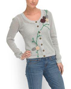 Cotton+Flower+Cardigan