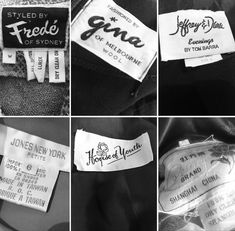 Vintage clothing labels Vintage Clothing, Vintage Outfits, Clothing Labels, Vintage Labels, Etsy Seller, Cards Against Humanity, Trending Outfits, Handmade Gifts, Style