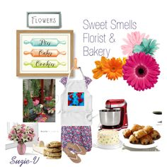 Bakery & Florist by suzie-v on Polyvore featuring art
