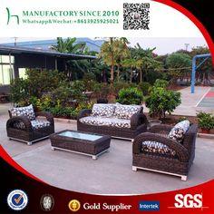 Ratán sintético sofá de gama alta muebles de ratán sofá seccional al aire libre de interior