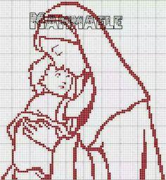 Blackwork Cross Stitch, Cross Stitch Charts, Cross Stitch Designs, Cross Stitching, Cross Stitch Patterns, Crochet Patterns, Filet Crochet, Cross Stitch Angels, Religious Cross