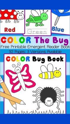 Early Learning, Kids Learning, Teaching Kids, Preschool Activities, Preschool Kindergarten, Insect Activities, Kindergarten Reading, Kindergarten Worksheets, Preschool Colors