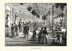 Victorian London - London Zoo - Reptile House royalty-free stock vector art