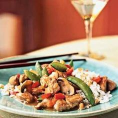 How to Cook Pork and Vegetable Stir-Fry with Cashew Rice | Bring a rainbow of color to your dinner plate with this quick-cooking Asian dish.