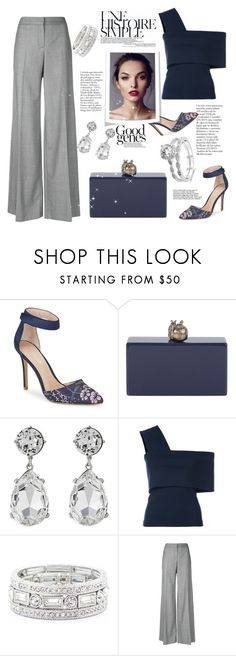 """""""Untitled #440"""" by riuk ❤ liked on Polyvore featuring Charles by Charles David, Edie Parker, Kenneth Jay Lane, Rosetta Getty, Sole Society and Alexander McQueen"""