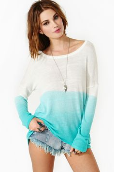 Chroma Fade Knit in Turquoise--- just not the shorts