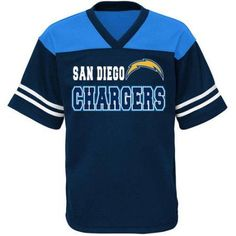 NFL Boys' San Diego Chargers Short Sleeve Mesh Team Top, Boy's, Size: 2XL, Multicolor
