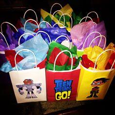 Teen Titans Go goody bags.