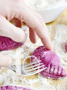 Purpurové pirohy plnené syrom