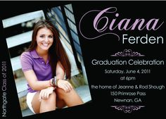 Graduation Invitations Spring Splash  Front  Smoke  Graduation