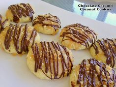 Cut the Wheat, Ditch the Sugar: Chocolate Caramel Coconut Cookies  (almond, coconut flour)  Low Carb
