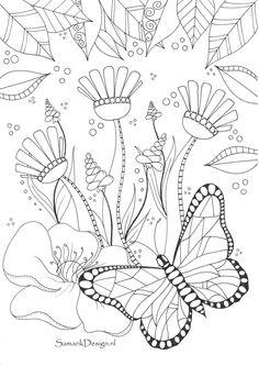 Vlinder doodle