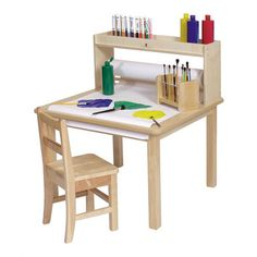 Arts and Crafts table but with all the features. Unit comes with a x long paper roll that can be pulled over the table surface. Two inch deep storage area above paper roll holder. Kids Art Table, Kids Table Chair Set, Desk And Chair Set, Kid Table, School Furniture, Furniture Logo, Kids Furniture, Study Table Designs, Kid Desk