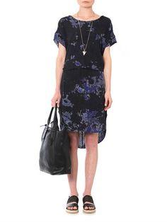 Raquel Allegra Cosmic #TieDye Silk Tunic Dress on #sale