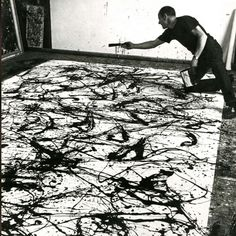 5 K Action Painting Jackson Pollock - Lessons - Tes Teach Willem De Kooning, Action Painting, Drip Painting, Dynamic Painting, Jackson Pollock Art, Jack Pollock, Pollock Paintings, Pollock Artist, Oil Paintings