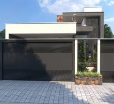 Ideas exterior house entrance gates for 2019 House Main Gates Design, Front Gate Design, Door Gate Design, Garage Door Design, House Front Design, Facade Design, Modern House Design, Exterior Design, Modern House Facades