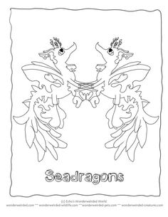 cartoon coloring pictures seadragon at wwwwonderweirded creaturescomcartoon coloring