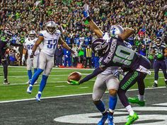Seattle Seahawks Jan 7 2017. Paul gets a one handed pass interference touchdown because the Seahawks declined.