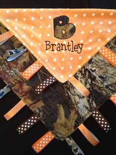 Hey, I found this really awesome Etsy listing at http://www.etsy.com/listing/162280130/camo-baby-tag-security-blanket