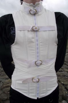 Men's Straight Jacket Corset, Front by ~Vic-Dustrael on deviantART
