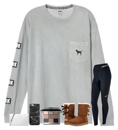 """""""cause you'll never be alone, i'll be with you from dusk till dawn """" by samanthars ❤ liked on Polyvore featuring NIKE, UGG, Bobbi Brown Cosmetics and Michael Kors"""