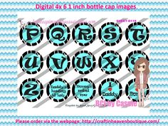 1' Bottle caps (4x6) abc mix D116  ALPHABET/NUMBERS BOTTLE CAP IMAGES  #abc #ALPHABET #NUMBERS #bottlecapimages #bottlecap #BCI #shrinkydinkimages #bowcenters #hairbows #bowmaking #ironon #printables #printyourself #digitaltransfer #doityourself #transfer #ribbongraphics #ribbon #shirtprint #tshirt #digitalart #diy #digital #graphicdesign please purchase via link   http://craftinheavenboutique.com/index.php?main_page=index&cPath=323_533_42_45