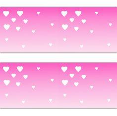 Pink Ombre Heart Wallpaper Border Wall Art Decal Baby Girl Nursery Sticker Decor