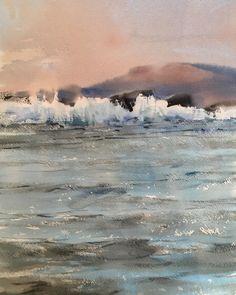 Sergey Temerev May 18 Watercolor Ocean, Bulgaria, Waves, Sky, Russia, Painting, Outdoor, Instagram, Outdoors