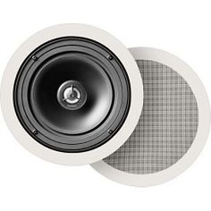 Definitive Technology UIW64/A Round In-Ceiling Speakers (Pair, White) by Definitive Technology. $418.00. Definite Technology's UIW 64/A is a round 6.5-inch 2-way loudspeaker. Compact shape, perfect for in-ceiling installations where space is tight. Moisture resistant for use in kitchens and even bathrooms. Coaxial combination of a Definitive Technology's 6.5-inch bass/midrange driver in a non-resonant cast basket with a 1-inch pure aluminum dome tweeter that pivots for exc...