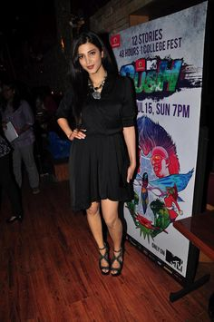 Shruti Hassan at The Launch of MTV Rush.   Bollywood Cleavage