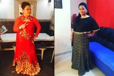 The name Bharti Singh needs no introduction. And it's not just her outstanding comic presence on-screen we love her for, but we admire her for her amazing fashion sense too. She's got an amazing style, which makes her a fashion idol of many plus- Bharti Singh, Indian Bridal Fashion, Fashion Idol, Indian Attire, Diy Dress, Bridal Style, Stylish Outfits, Plus Size Fashion, Plus Size Women
