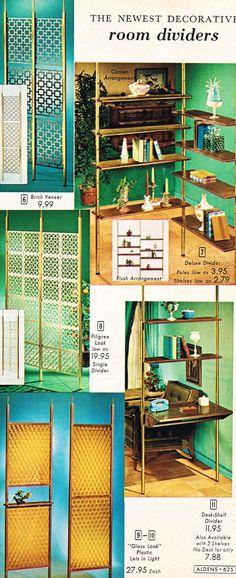 MCM room divider heaven - Aldens 1965