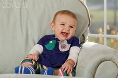 Close-up of a laughing baby