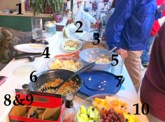 The V Spot: How NOT to set up a buffet table & 5 things to make your next potluck more successful.
