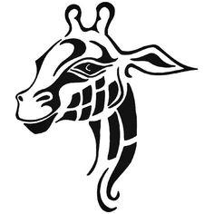 ef0d5232488e4 Tribal Giraffe Safari Zoo Vinyl Decal Sticker BallzBeatz . com Giraffe  Tattoos, Tribal Tattoos,