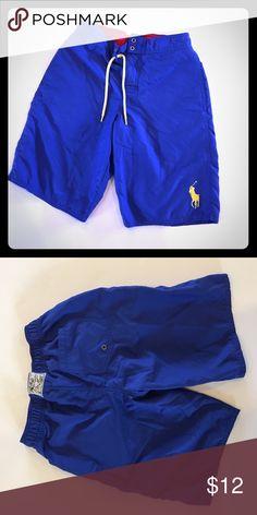 Blue Polo swim trunks Blue swim trunks with pockets by Polo by Ralph Lauren Polo by Ralph Lauren Swim Swim Trunks